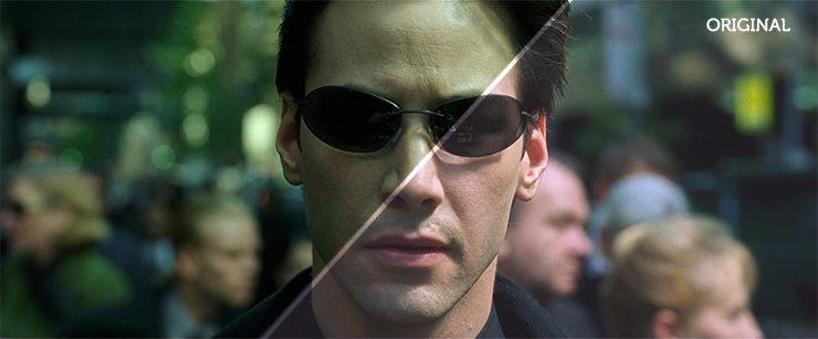 Color grading example The Matrix