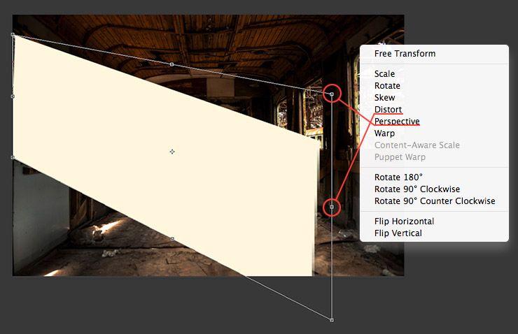 Photoshop CC light beam tutorial