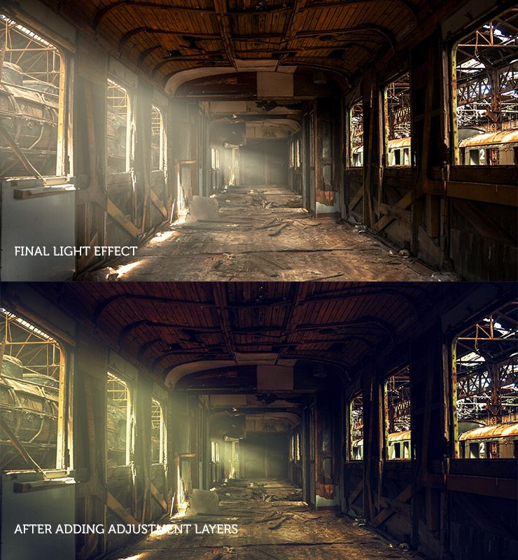 Photoshop CC ambient light effect tutorial