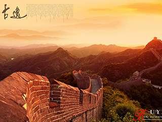 长城日暮风景摄影
