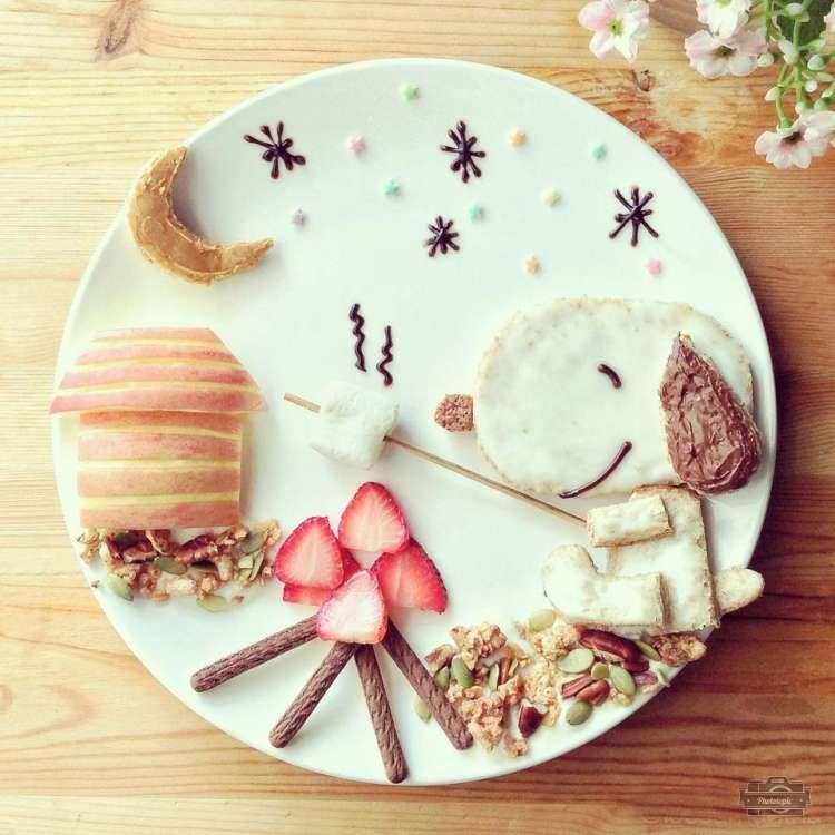 美食家打造创意卡通童话般的主题早餐