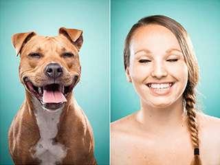 摄影师Ines Opifanti找了主人与他的狗狗拍摄了这组对比照片