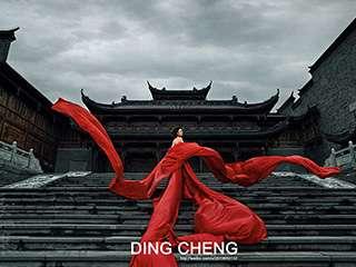 红色旗袍摄影作品