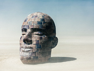 黑岩沙漠火人节疯狂的艺术家们