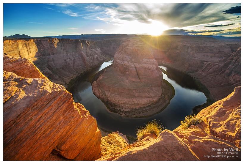 令人震撼的壮观景色 日落马蹄湾