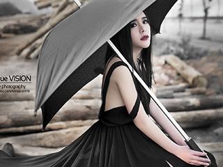 《木厂黑衣》高冷个性人像摄影作品