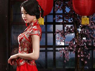 旗袍美女永远是一种无言的诱惑