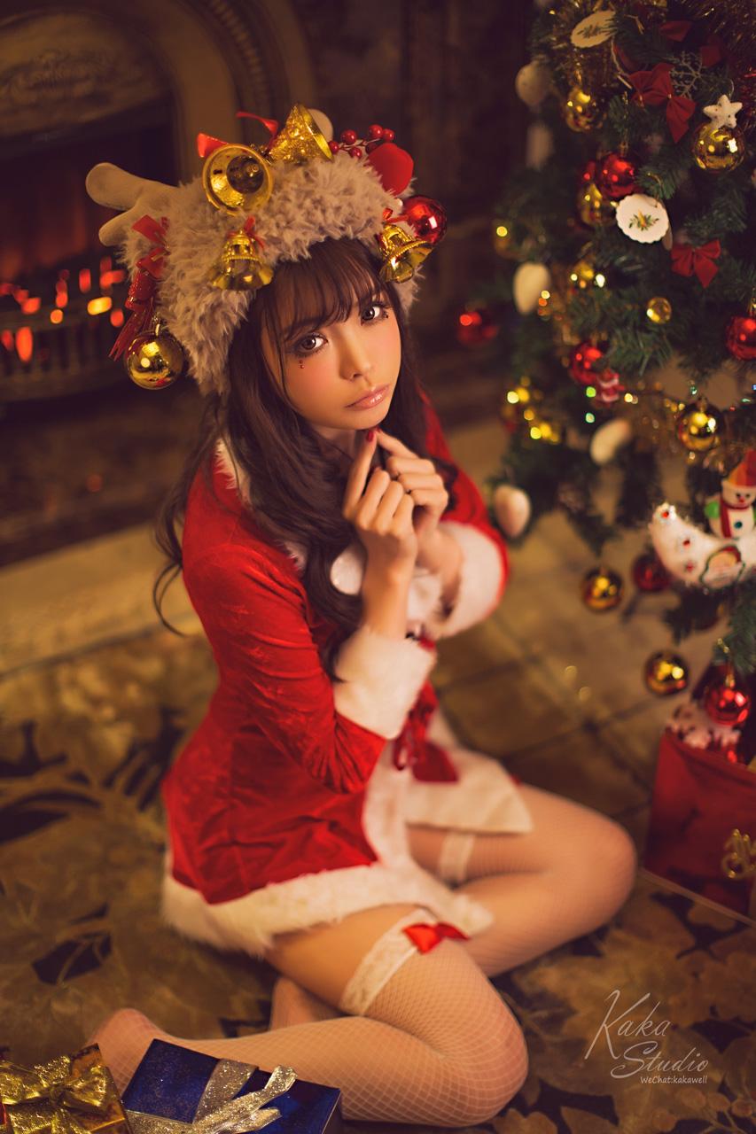 美女的圣诞