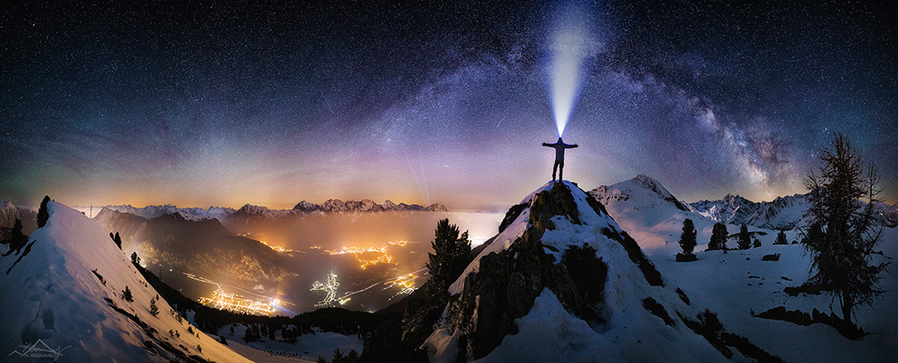 星空相伴下的绝美瞬间