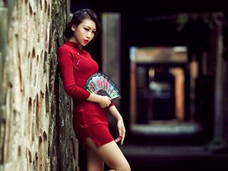 《拾韵》旗袍人像摄影作品