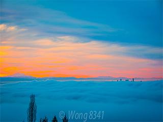 白云深处的温哥华 如梦似幻