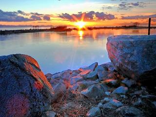 渔人码头日落黄昏夕阳红