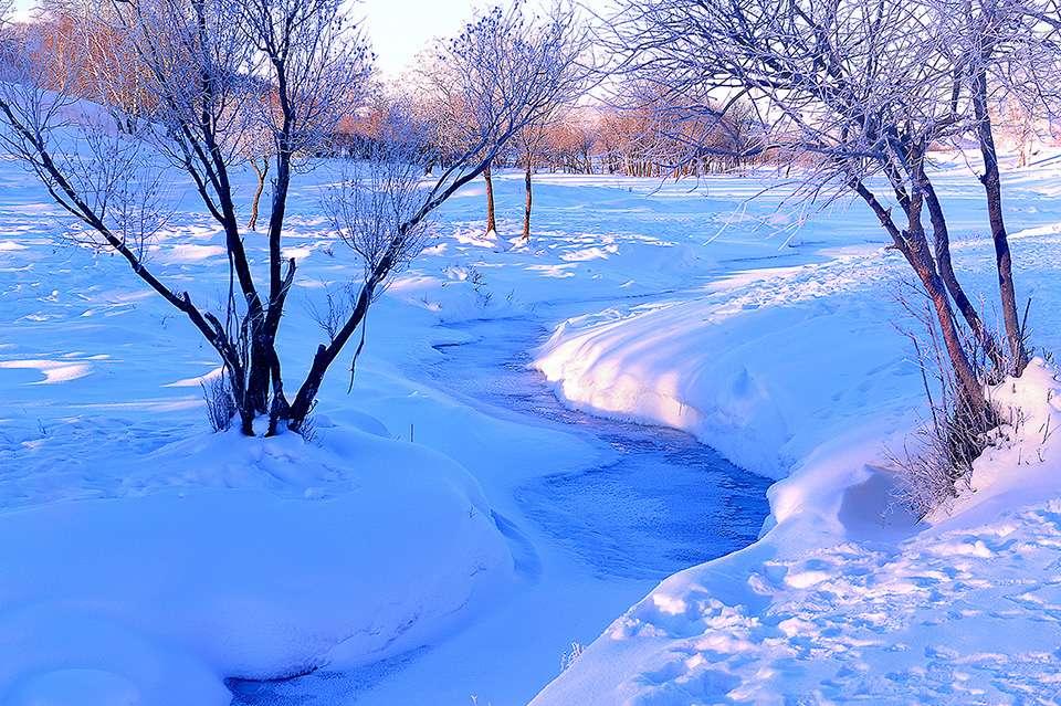 冬日暖阳坝上风光