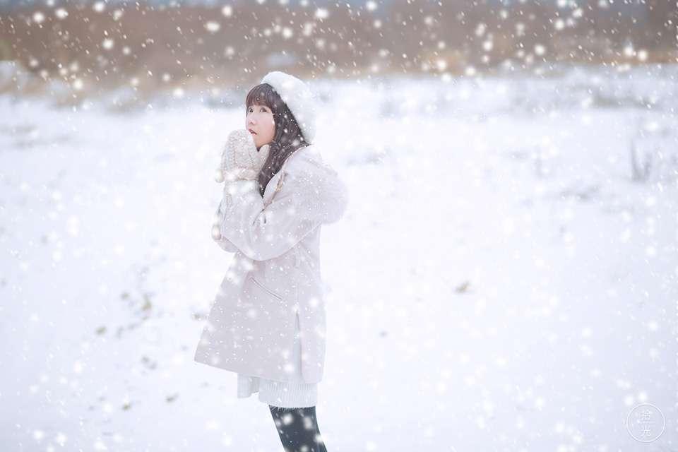 冬雪零下七摄氏度