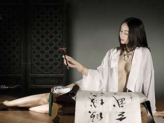 墨香中国风人体艺术