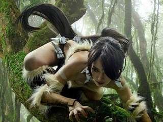 英雄联盟COSPLAY丛林女王奈德丽Nidal