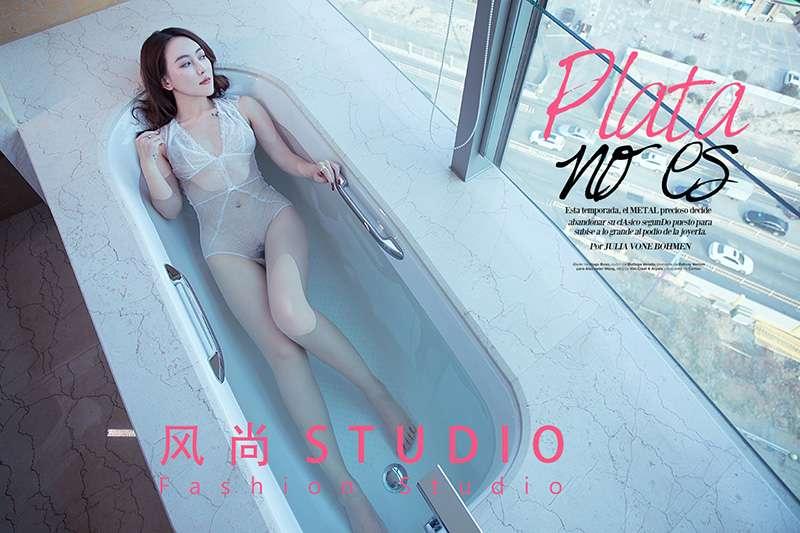 浴缸私房性感美女写真