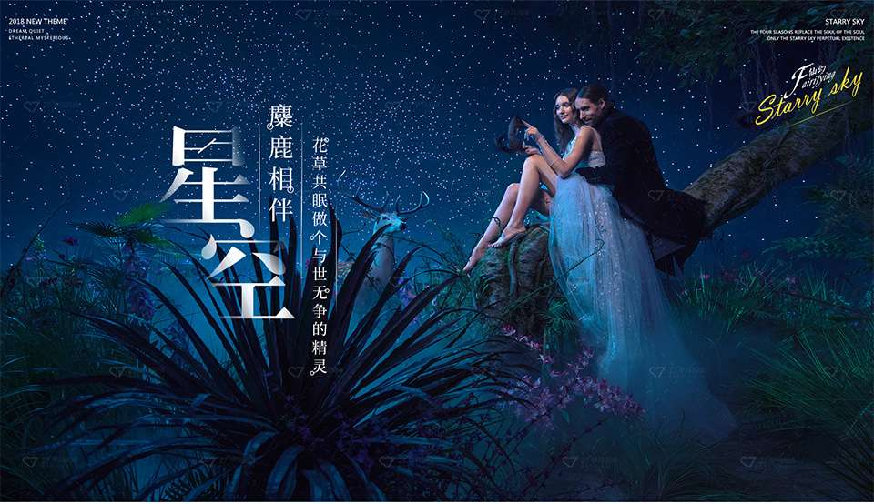 2018全新仙幻造梦《星空》婚纱摄影