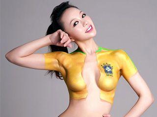 各国奥运宝贝人体彩绘大全