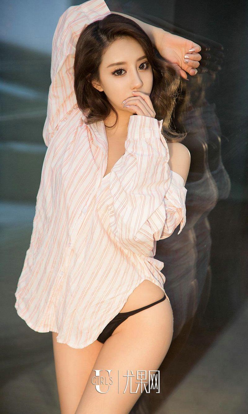 闪光少女筱慧白衬衣+薄纱吊带连体内衣