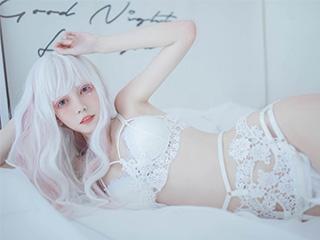 小妖精你的负卿COSPLAY白色蕾丝私房图片[33P]