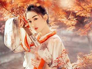 红枫林古装人像摄影