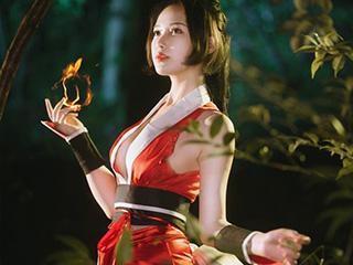 王者荣耀COSPLAY不知火舞夜拍摄影作品[9P]