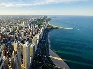 俯瞰芝加哥风光摄影
