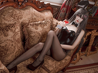 五更百鬼CSOPLAY樱岛麻衣兔女郎摄影图片[38P]