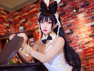 鬼畜瑶COSPLAY酒吧兔女郎摄影图片[2