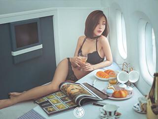 假期拍摄的《美女与美食》人像摄影