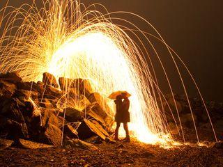 如何拍摄夜景火花喷溅和光绘涂鸦效果