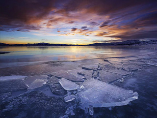 冰封的赛里木湖风光摄影教程(拍摄