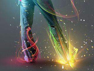 光芒人体艺术PS教程