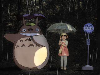 动漫儿童创意摄影《龙猫》场景拍摄和后期处理
