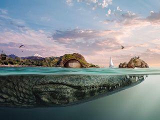 幻想的小岛下面的世界